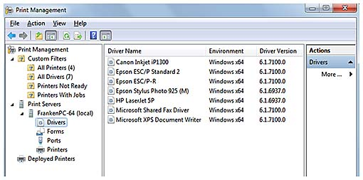 Print Management | Using Administrative Tools in Windows 7 | InformIT