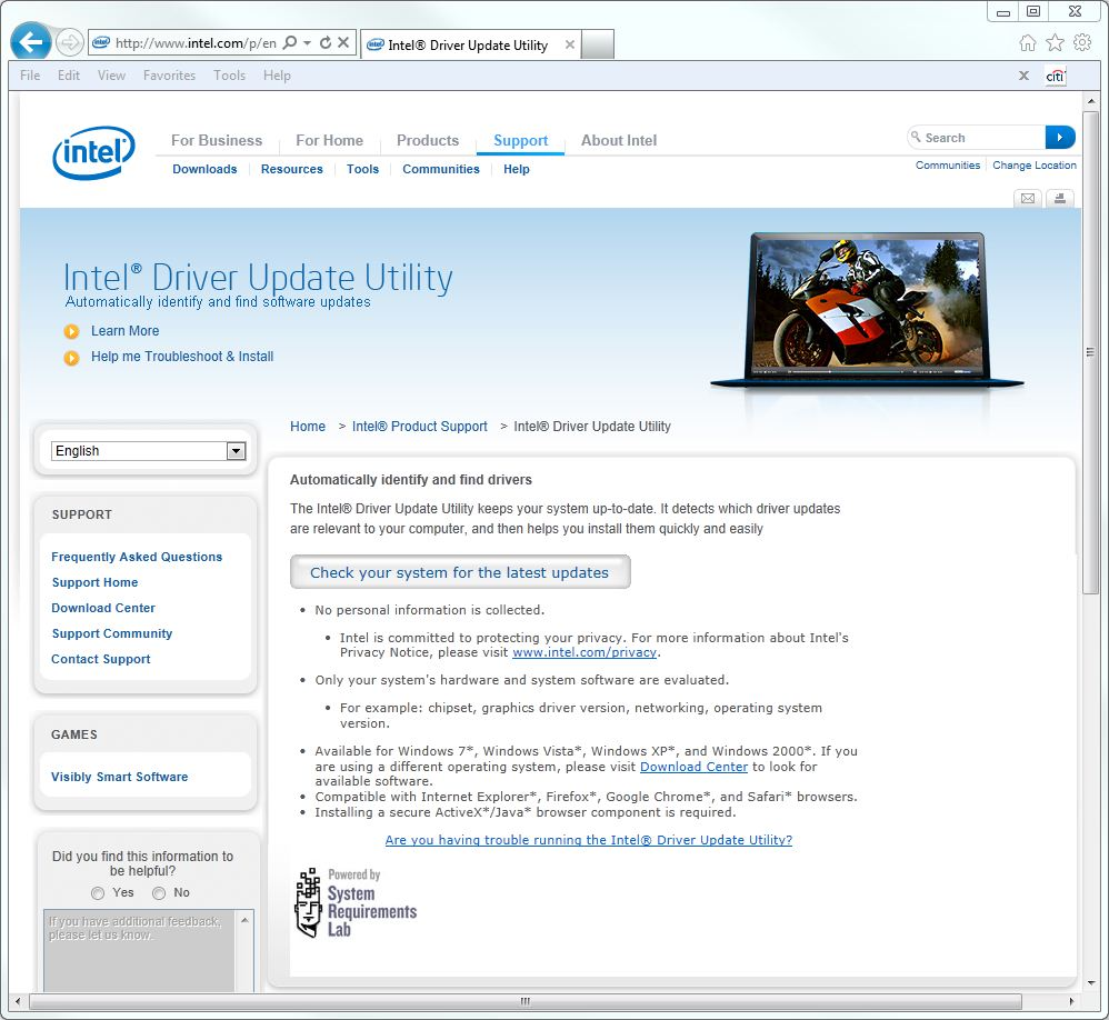 The Intel Driver Update Utility: An Occasionally Great Tool | What Does the Utility Find? | InformIT
