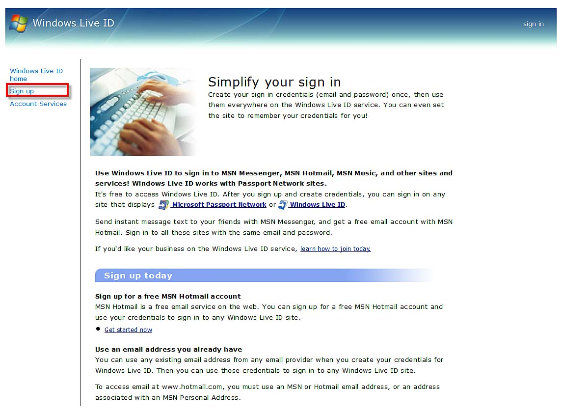 The New Microsoft Account for Windows 8 | Creating a