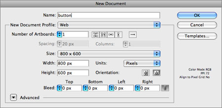 Time for an Example! > Creating Web Content in Adobe Illustrator CS5