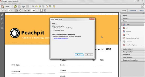 Add Fields to a Form > Create Fillable PDF Forms Easily