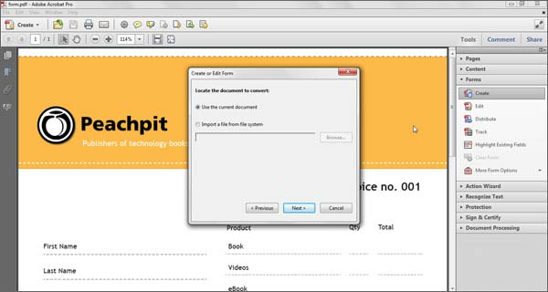 how to create interactive form fields in pdf