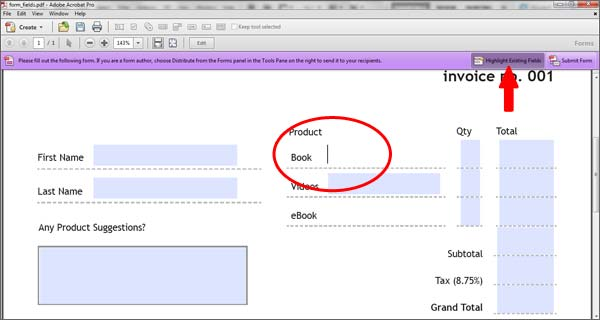 Set Tab Order of Form Fields > Create Fillable PDF Forms Easily