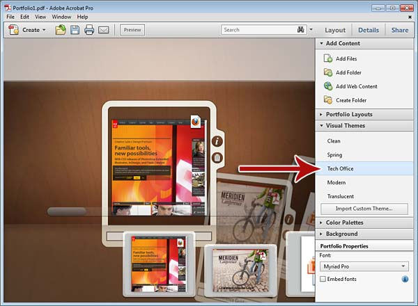 Edit a Portfolio > From Many File Types, A Polished PDF Portfolio