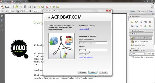 Create a Shared PDF Review Using Acrobat com for Easy