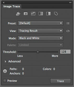 Working with Image Trace in Adobe Illustrator CS6 > Begin
