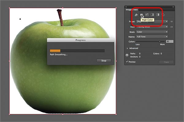 Working With Image Trace In Adobe Illustrator Cs6 Begin Tracing