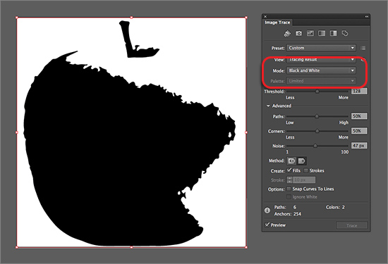 Advanced Tracing Options | Working with Image Trace in Adobe