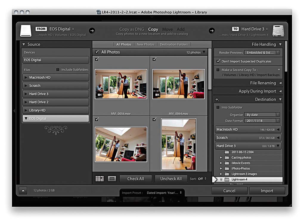 Importing video files > Martin Evening on Importing Photos ...