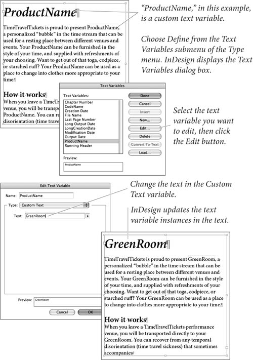 Text Variables in Adobe InDesign CS3 | Text Variables | Peachpit