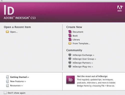 Getting Your Feet Wet with InDesign CS3 Templates > Exploring the ...