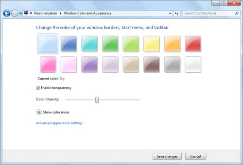 Changing the Look of Your Desktop | Personalizing Windows 7 | InformIT