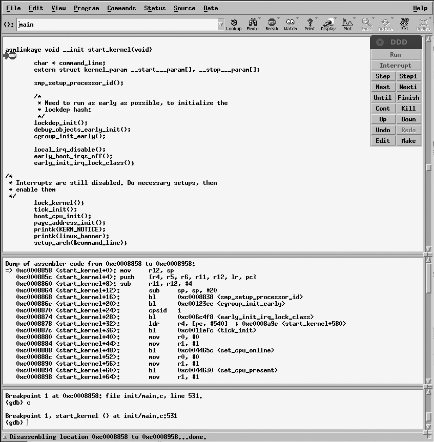 Running and Debugging the Kernel in the Emulator   Embedded