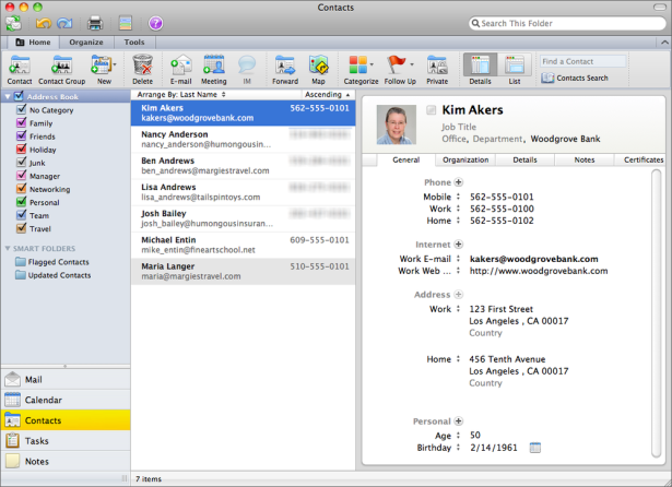 Create a distribution list: Outlook 2011 for Mac