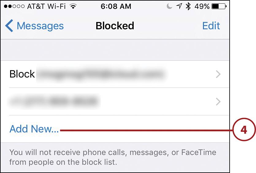 Preparing the Messages App for Messaging | Sending