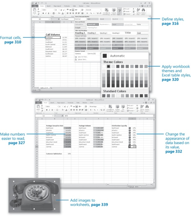 How To Change Workbook Appearance In Microsoft Excel 2010. Atomoreillysourcemsp S1409813. Worksheet. How To Change The Worksheet Header In Excel 2010 At Clickcart.co