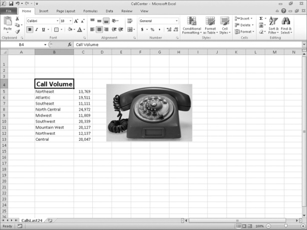 How to Change Workbook Appearance in Microsoft Excel 2010