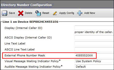 External Phone Number Mask > Implementing Cisco Unified ...