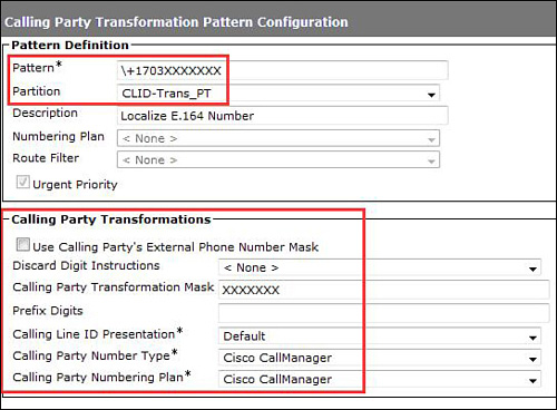 Cisco Unified Communications Manager Global Transformations