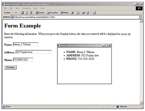 Displaying Data from a Form | Getting Data with Forms Using