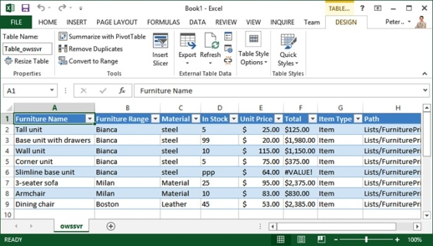 Using SharePoint 2013 with Excel and Access | Microsoft Press Store