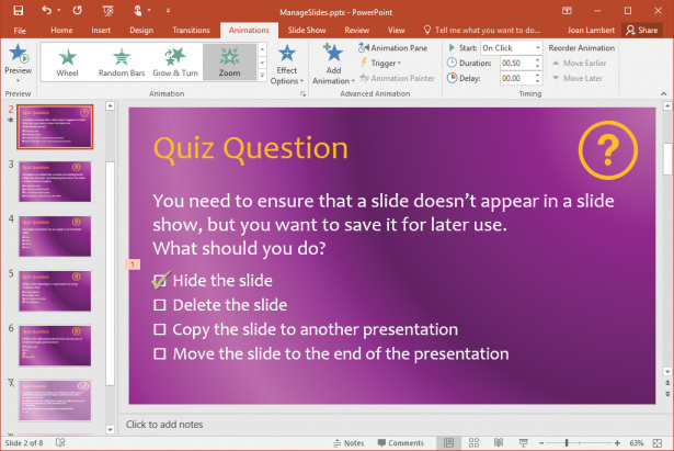 How to Add Sound and Movement to PowerPoint Slides | Microsoft Press