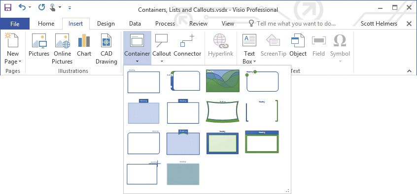 Add Structure to Your Diagrams in Microsoft Visio 2016