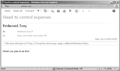 outlook web app how to auto delete deleted inbox