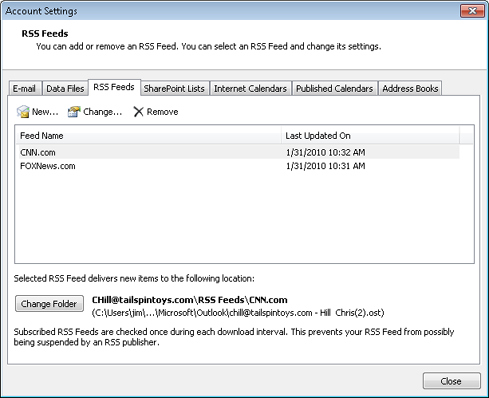Using RSS Feeds in Microsoft Outlook 2010 | Microsoft Press