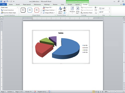 Create compelling smartart diagrams and charts in microsoft word figure 16 13 use the contextual chart tools to edit and enhance the charts in your document ccuart Gallery