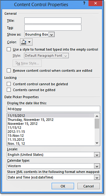 how to use content control in word 2016