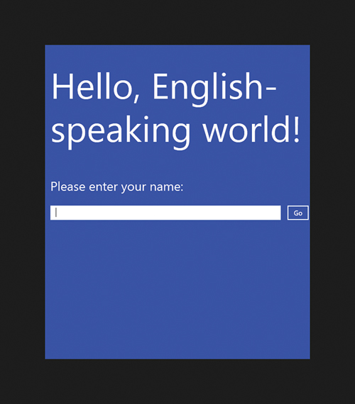 Updating XAML and C# Code | Hello, Real World! Creating a