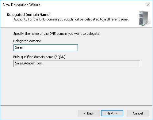 dns error delegation not found at parent