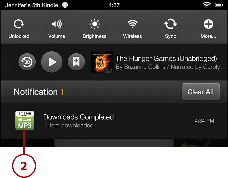 Notifications And Options Getting Started With The Kindle Fire