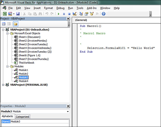 Unleashing the power of Excel with VBA | Microsoft Press Store