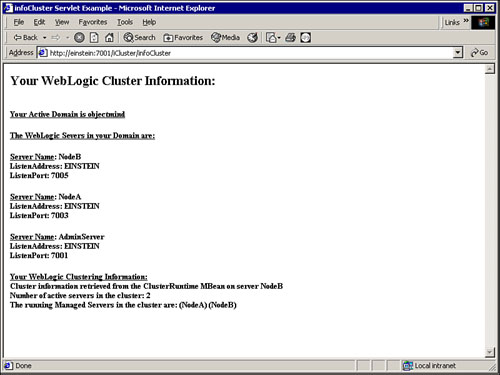 Creating and Configuring a WebLogic Cluster   Implementing Highly