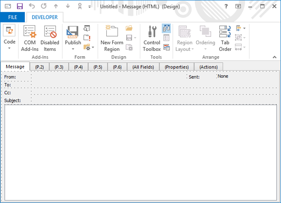 designing and using custom forms in microsoft outlook 2013