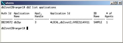 Using the Command Line Processor (CLP)   DB2 UDB