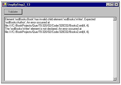 Xmlvalidatingreader class in c# programming