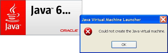 could not create the java virtual machine