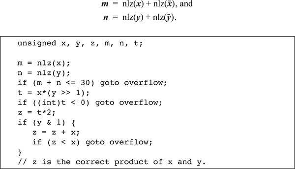 2-13 Overflow Detection   Hacker's Delight: The Basics   InformIT