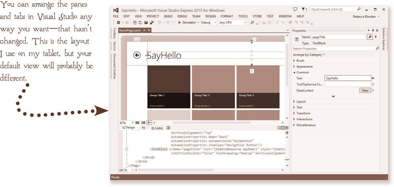 Set Some XAML Properties   Fluent Windows 8 1 App