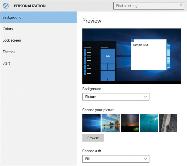 Personalize Your Working Environment In Windows 10 Microsoft Press Store