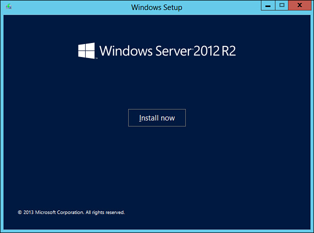 Windows Server 2012 Essentials setup