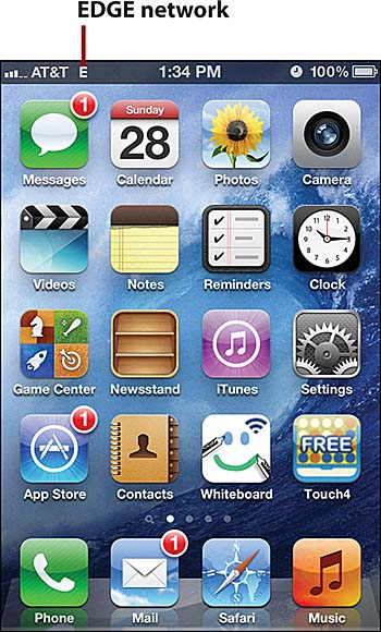 Connecting To The Internet Via A Cellular Data Network My Iphone