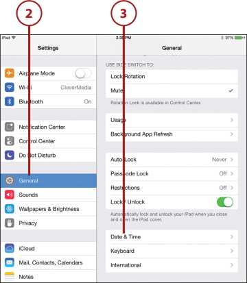 Setting Your Date and Time | Customizing Your iPad | InformIT
