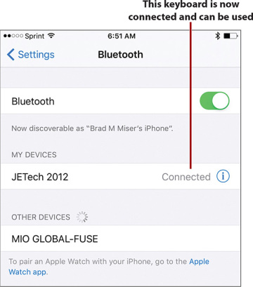 Using Bluetooth to Connect to Other Devices | Connecting