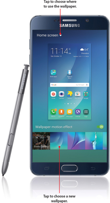 Customizing Your Galaxy Note 5 Changing Your Wallpaper Informit