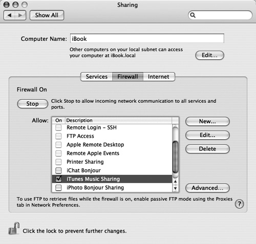 Dealing with Firewalls | Playing Music and More in iTunes