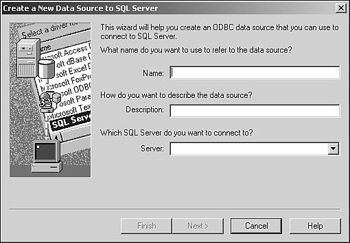 Defining an ODBC Data Source | Access Enterprise Development